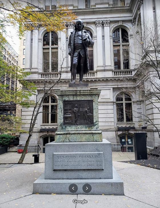 Estatua de Benjamin Franklin
