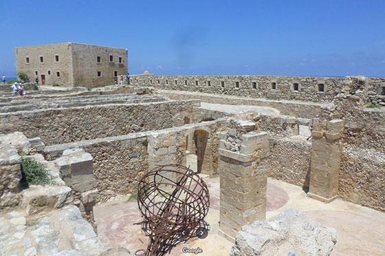 Interior de la fortaleza de Rethymnon