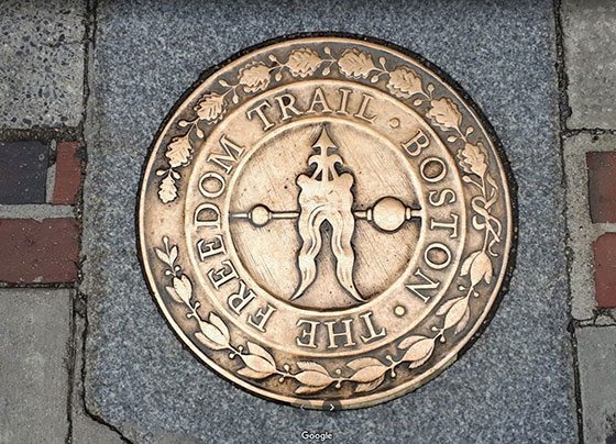 Placa del inicio del Freedom Trail